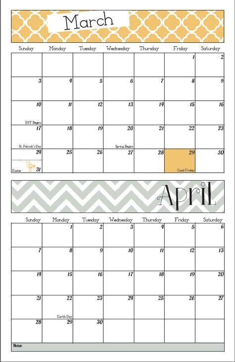 Free Printable 2013 Wall Calendar