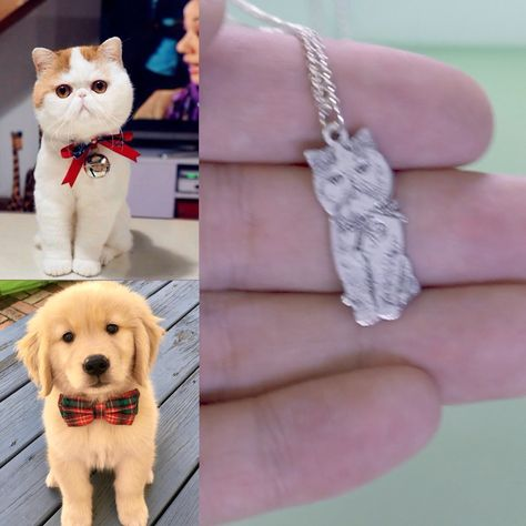 True friend in your life .The best way keep your little friends more close to your heart forever. Show your lovely furry friend photo on this necklace .