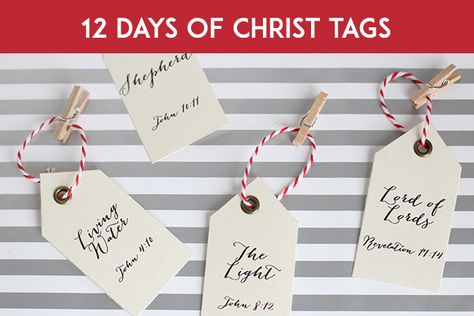 12 days of CHRISTmas! Printable tags (not free, but affordable)