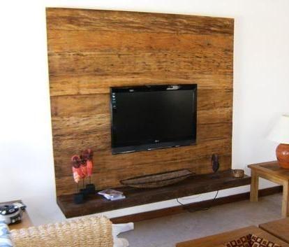 Painel Madeira Rack Rustico Tv Digital Parede Raque Lcd