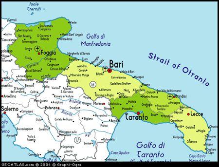 Where2 Med Italien Karte Apulien Reisen