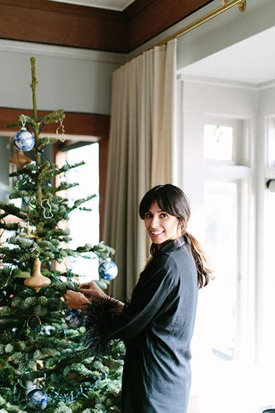 Angela Tafoya, Managing Editor - How Lonny Editors Decorate Their Homes For The Holidays - Photos