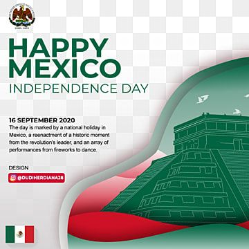 Mexico Independence Day Design With Piramid Mexico Independence Holiday Png Transparent Clipart Image And Psd File For Free Download Print Design Template Independence Day Creative Graphic Design