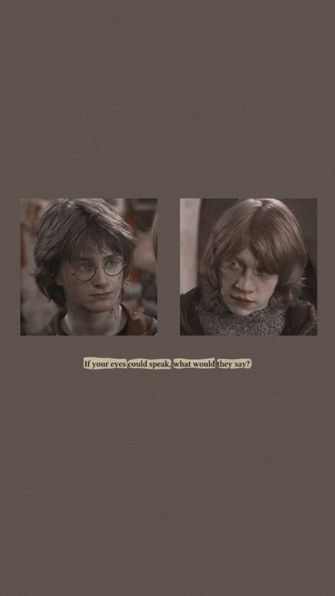 Harry and Ron aesthetic wallpaper