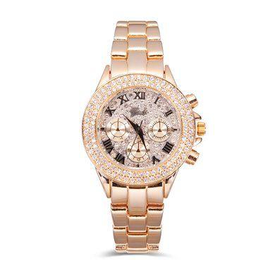 YAKI Neu Luxusuhren Damenarmbanduhr Uhren Uhr Damen Damenuhr Armbanduhr Analog Quarzuhr Gold 83197-Y