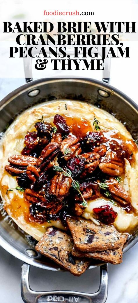 Skip the puff pastry and try one or all three of these super easy baked brie recipe ideas for your next party appetizer, and everyone will be saying cheese. Brie Cheese Recipes, Baked Brie Recipes, Cheese Appetizers, Fig Jam Recipes, Recipes With Figs, Dried Fig Recipes, Epicurious Recipes, Fig Appetizer, Appetizer Recipes