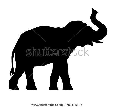 Isolated Silhouettes Of Elephants Vector Download Free Vector Art Stock Graphics Images Elephant Artwork Vector Art Free Vector Art