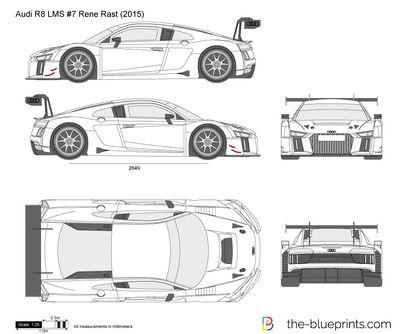Audi R8 Lms 7 Rene Rast Audi R8 Audi Car Drawings