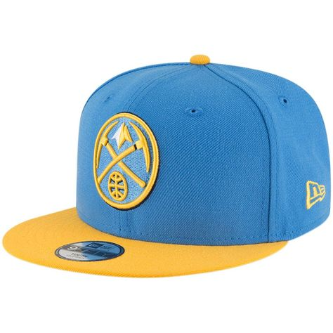 brand new c7f78 9ff51 Youth Denver Nuggets New Era Light Blue Gold Two-Tone 9FIFTY Snapback Adjustable  Hat, Your Price   23.99