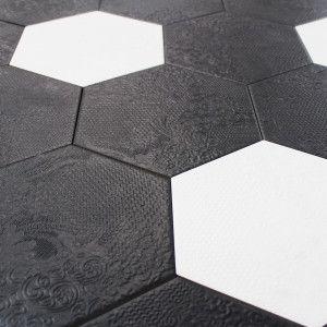 carrelage hexagonal sol et mur milano