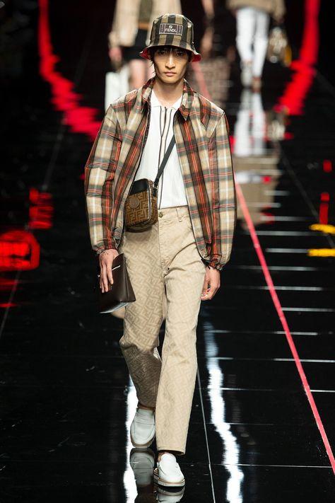 7088b5ea97 Fendi Spring 2019 Menswear Milan Collection - Vogue#purveyoroffinefabrics  #rexfabrics #passionforfabrics