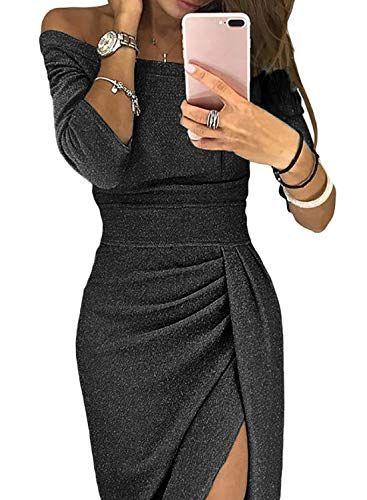 46e1bc424 Aleumdr Mujer Vestido de Noche Falda Elegante para Fiesta Vestido de ...