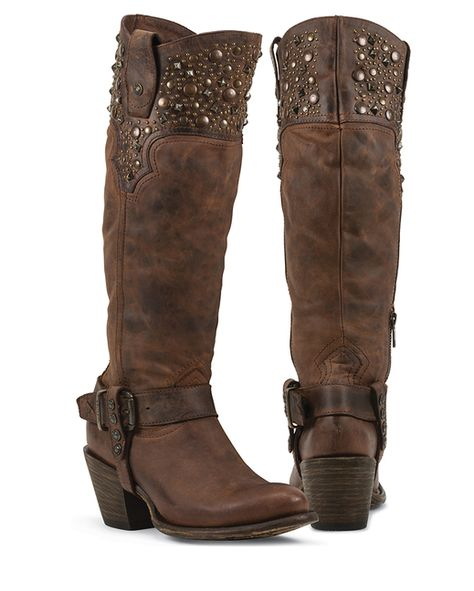 8ca8df18dfa Corral Deer Riding Boot - Women's Shoes in LD Chocolate | Buckle
