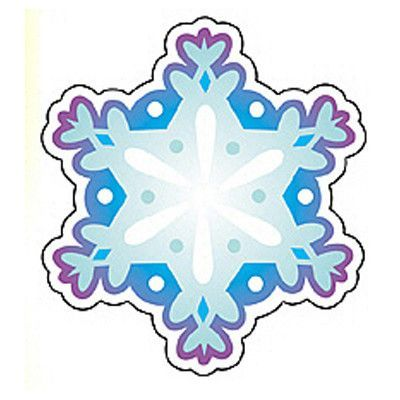 Carson Dellosa 36 Pieces Classroom D/écor Snowflakes Colorful Cut-Outs