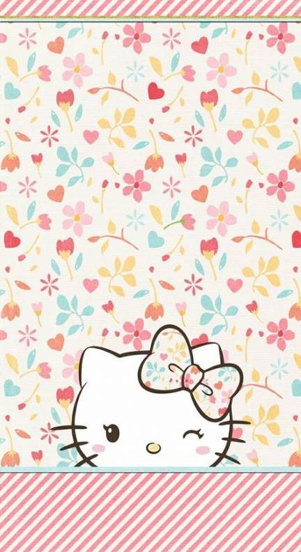 Trendy Flowers Wallpaper Iphone Hello Kitty 36 Ideas Flowers Hello Kitty Wallpaper Kitty Wallpaper Hello Kitty Backgrounds