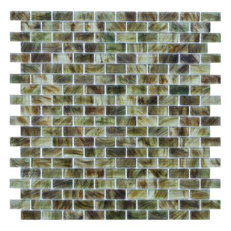 Miseno Mt Sienna5 8rect Sienna 5 8 X 1 1 4 Glass Visual Wall Tile Sold Dark Gray Flooring Tile Mosaic Glass Mosaic Tiles Wall Tiles Green Backsplash
