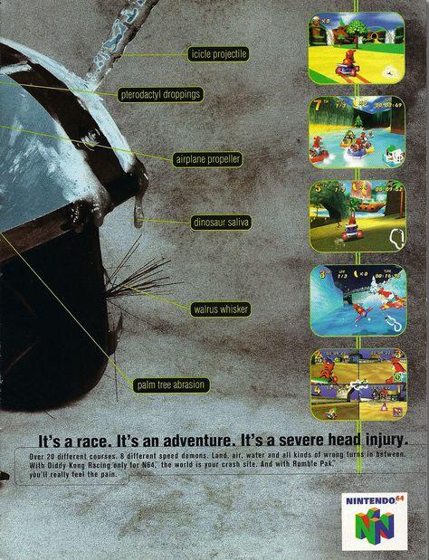 Diddy Kong Racing Nintendo N64 Advert Video Game Articles Ads
