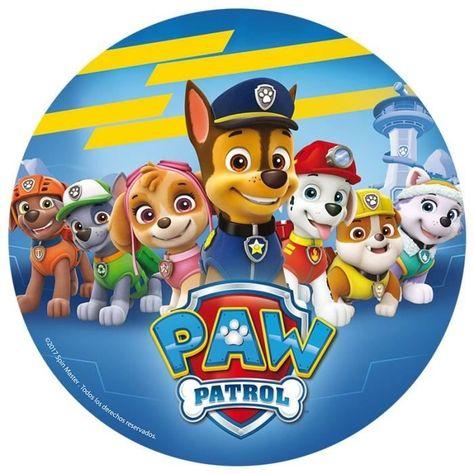 "Paw Patrol 8/"" Round Premium icingsheet Personnalisé Cake Topper"