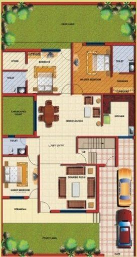 29 Ideas Farmhouse Plans Indian 40x60 House Plans Beautiful House Plans Duplex House Plans