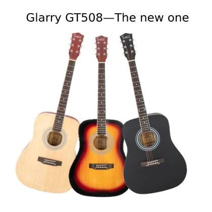 Glarry Gt508 41in Solid Top Folk Acoustic Guitar Dreadnought Natural Black Sunset Glarrymusic Guitar Acoustic Guitar Acoustic