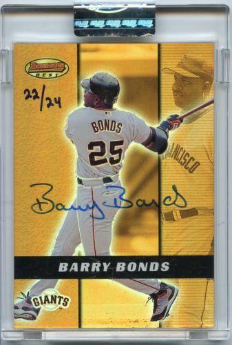 Barry Bonds 2005 Bowman Sterling Buyback Auto 24 2000 Autograph