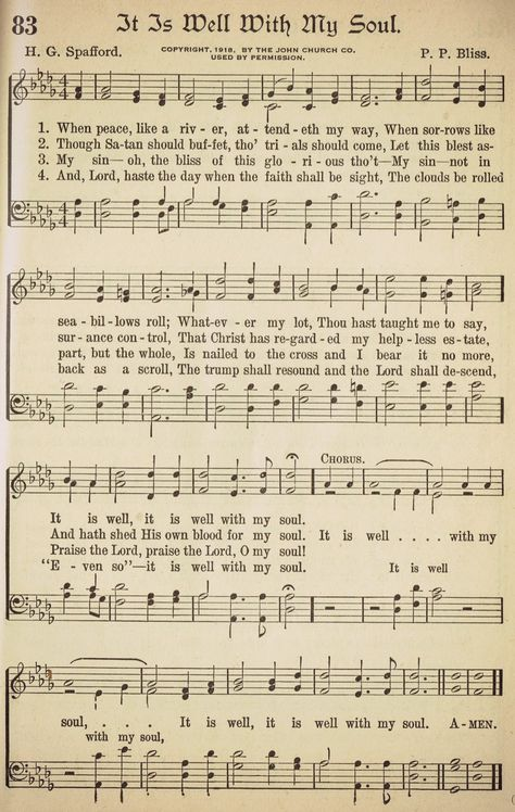 Knick Of Time It Is Well With My Soul Printable Hymns Praise