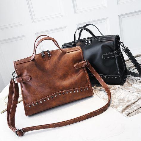 eb494538310b 38% СКИДКА|Cacomax модные из искусственной кожи осень ретро для женщин сумки  на плечо повседневное Tote дамы руки женские сумки через плечо купить в ...