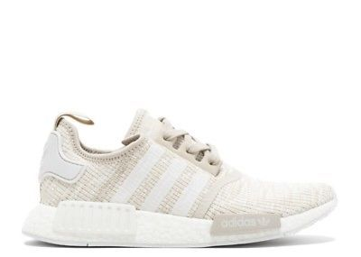 wholesale dealer 9d24b f0dae Women's Adidas NMD R1 Roller Knit Cream Grey Tan Beige White ...