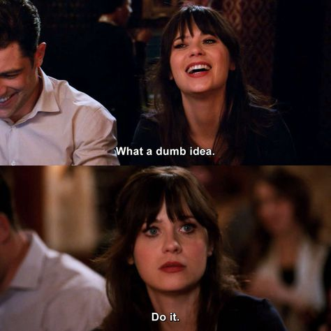 Check out the latest and funniest quotes of New Girl. New Girl Memes, New Girl Funny, New Girl Quotes, Funny Girl Quotes, Funny New, Tv Quotes, Movie Quotes, New Girl Tv Show, Jessica Day