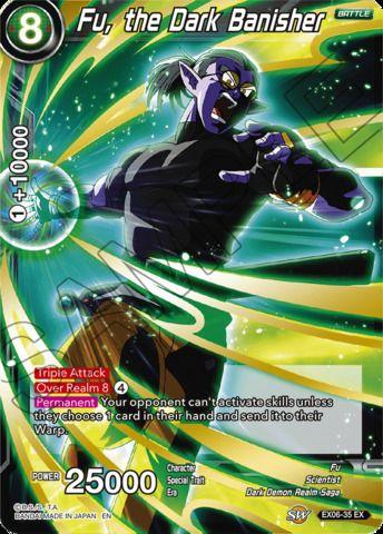 Fu The Dark Banisher Ex06 35 Ex Foil Imprimir Sobres Dragones Dragon Ball