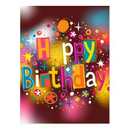 Happy Birthday Postcard - birthday diy gift present custom ideas