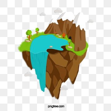 Fantasy Floating Island Cave Adventure Waterfall Clipart Floating Island Adventure Png Transparent Clipart Image And Psd File For Free Download Floating Clip Art Image