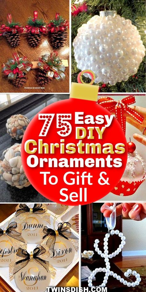 Beautiful Easy DIY Christmas Ornaments For The Tree #ChristmasTree