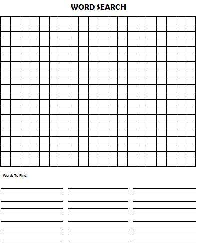 photograph regarding Blank Word Search Printable called Pin upon Kim