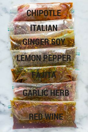 7 Best Steak Marinades (a sweet pea chef) With these 7 Best Steak Marinades, you'll have all sorts of flavor and variety to spice up your next steak dinner. Get tips for how to marinate steak and how to freeze marinated steak plus 7 great ste Marinade Für Steaks, Chicken Marinade Recipes, Chicken Marinades, Steak Marinades, Tri Tip Marinade, Marinade For Skirt Steak, Best Marinade For Steak, Grilled Tri Tip Recipes, Summer Grill Recipes
