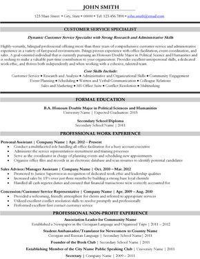 Customer Service Specialist Resume Template Premium Resume