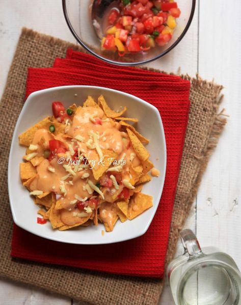 Resep Nachos Dengan Saus Keju Jtt Makanan Sehat Resep Masakan Makanan Dan Minuman