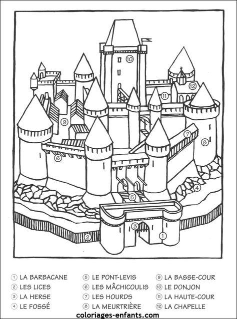 130 Idees De Chateaux Et Chevaliers Moyen Age Maternelle Moyen Age Chateau Moyen Age