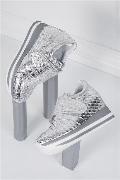 Dora Beyaz Floter Bayan Spor Ayakkabi Ilvi Yeni Moda Ayakkabilar Moda