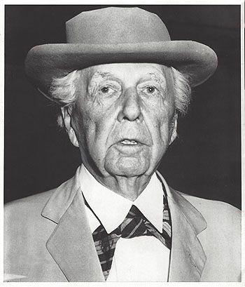 Illustration Frank Lloyd Wright Portrait