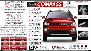 Jeep Compass Price Range Jeep Compass Jeep Jeep Compass Price