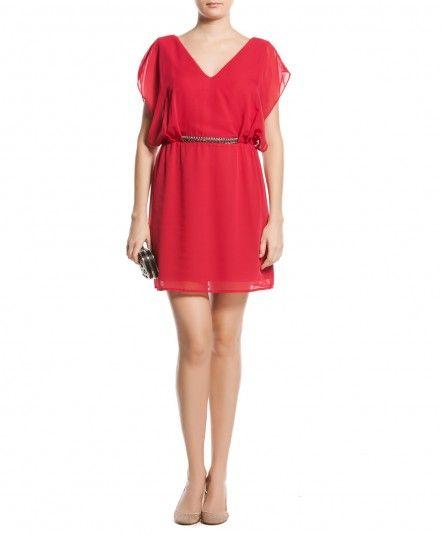 Koton Kirmizi Ve Kemerli Elbise Modeli Kadinlive Com The Dress Elbise Modelleri Elbise