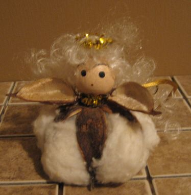 Cotton Ball angel #ornament