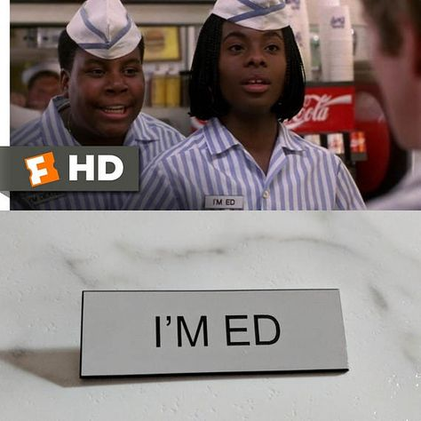 nickelodeon good burger im ed nametag name badge costume