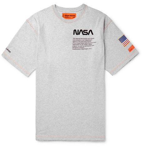 Heron Preston Nasa Oversized Embroidered Printed Cotton Jersey T