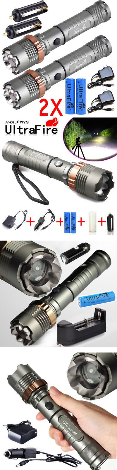 900000LM Tactical Police T6 LED Rechargeable Flashlight Torch Zoomable USA