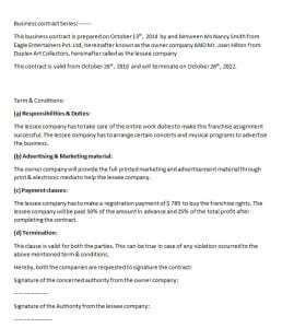 Business Associate Agreement Template Contract Template Word