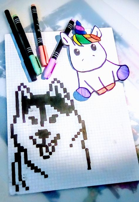Jai Dessiné Un Chien Loup En Pixel Art Et Jai Aussi