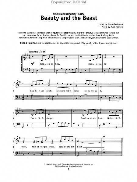 Beauty And Beast Music With Images Piano Sheet Music Free