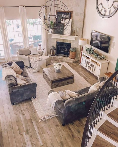 New Living Room, Interior Design Living Room, Home And Living, Living Room Designs, Interior Design Farmhouse, Cool Living Room Ideas, Modern Living Room Furniture, Living Room Layouts, Modern Living Room Design